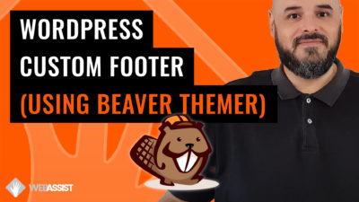 Beaver Themer Footer Create Custom Footer