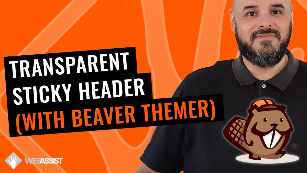 Beaver Themer Header Transparent Sticky Header
